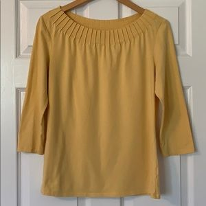 Talbots yellow medium shirt